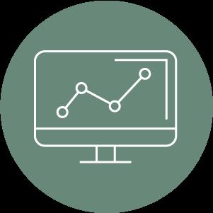 icon showing website anallytics